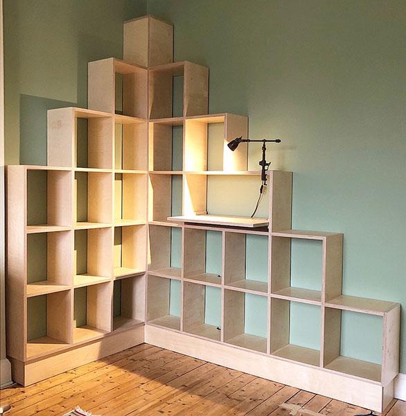 Birch Ply Shelves